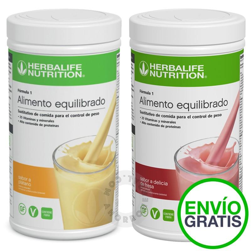 Pack dos batidos herbalife formula 1 con envío gratis. ahorroherbal.com
